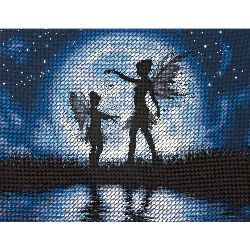14 Count Cross Stitch Fabric - Dimensions Twilight Silhouette Counted Cross Stitch Kit, 14
