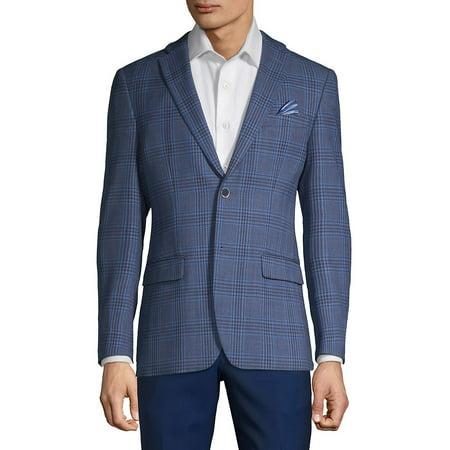 Plaid Button Front Sportcoat