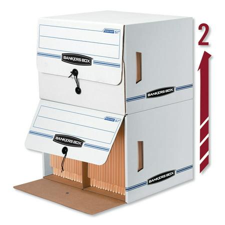 Bankers Box, FEL00061, Drop Front Storage Boxes, 12 / Carton, Wood Grain