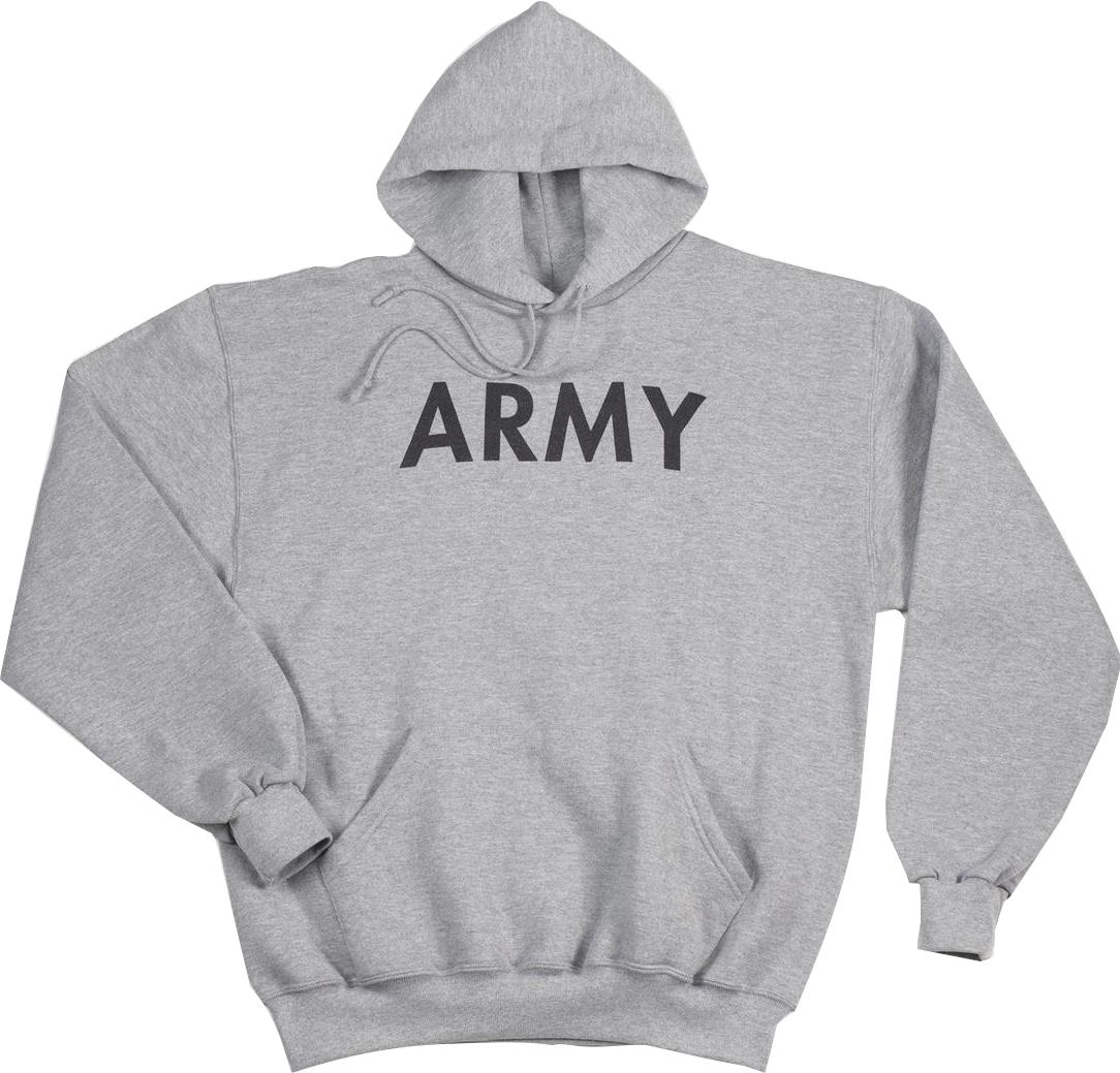 Army Hooded Pullover Sweatshirt, Olive Drab Hoodie, Mens Size L