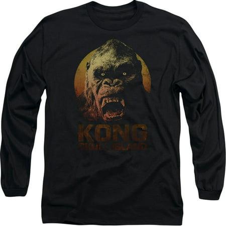 Kong Skull Island Mens  Kong Long Sleeve Black