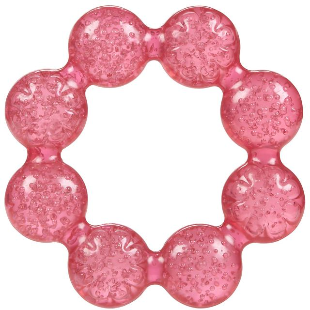 Nuby Pur Ice Bite Soother Ring Teether - Pink