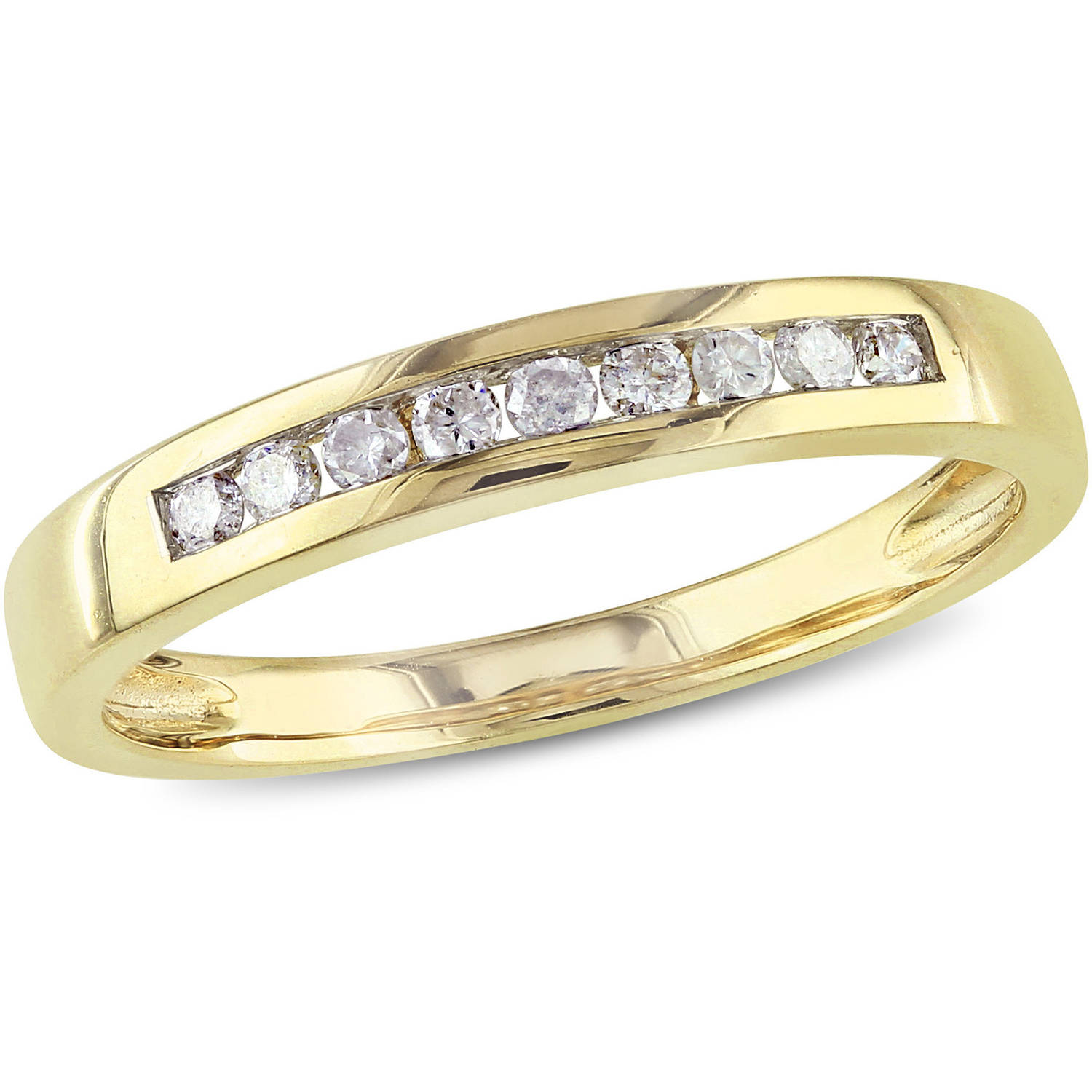 1/5 Carat T.W. Diamond Semi-Eternity Ring in 10kt Yellow Gold