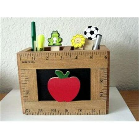 Suntex Teachers Gifts  L.P. ST-R24 AP WOODEN CADDY w/APPLE - Teacher Supply Store Nj