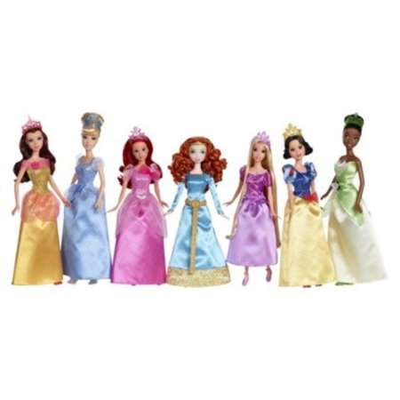 ultimate disney princess collection, 7 dolls: belle, cinderella, ariel, merida, rapunzel, snow white & tiana - Belle And Snow White