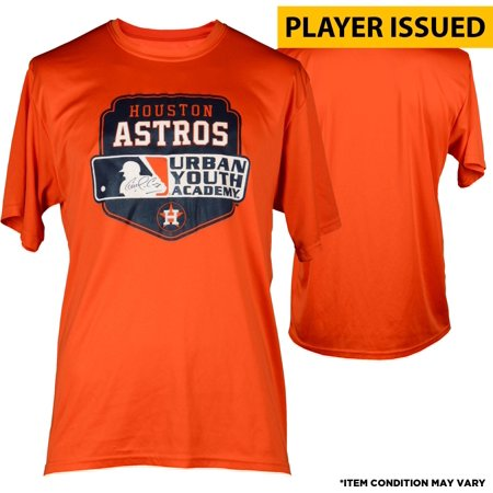 timeless design 8d7a4 42453 Carlos Correa Houston Astros Autographed Player-Issued Orange Youth Academy  Short Sleeve Shirt - Size XL - Fanatics Authentic Certified