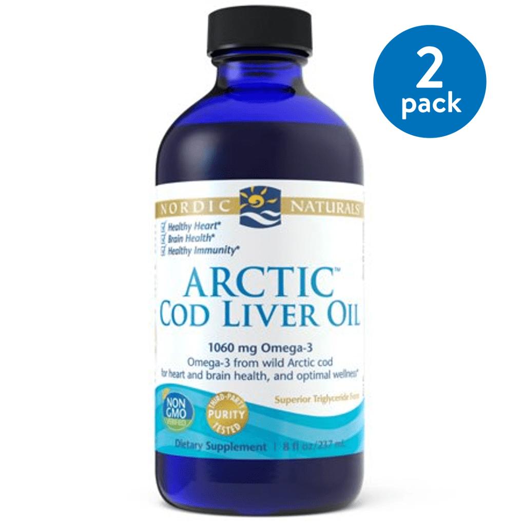 Nordic Naturals Cod Liver Oil Liquid, Natural, 750 Mg, 8 Oz