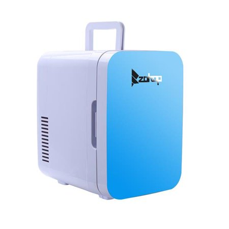 AOOLIVE ZOKOP Electric Mini Portable Fridge Cooler & Warmer (6 Liter / 0.21 Cuft / 8 Can) AC/DC Portable Thermoelectric System Blue