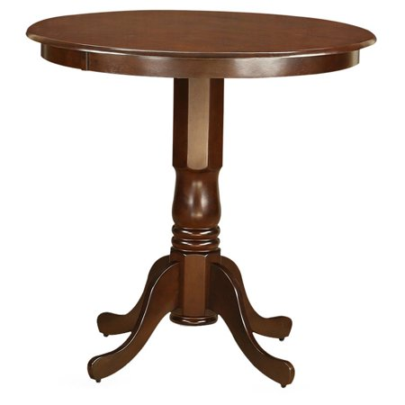 East west furniture jackson pedestal 36 inch round counter for 36 inch round dining table