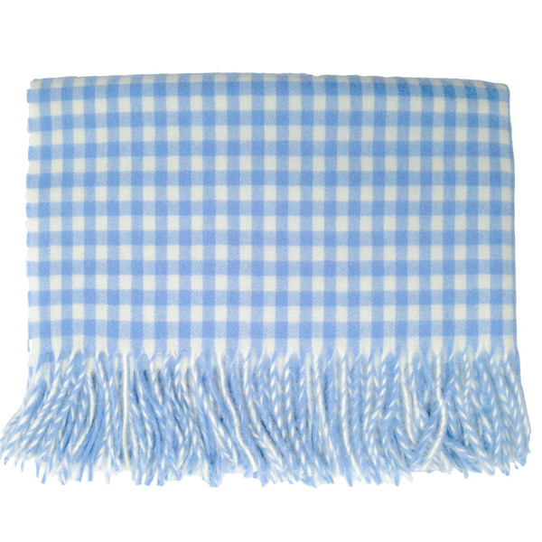 English Stroller Blanket ~ Blue/White Gingham [Baby Product]