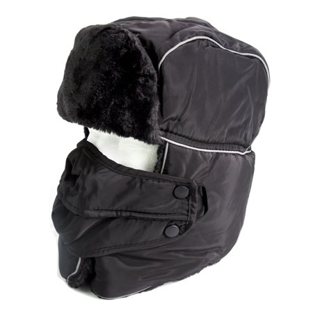880836fc9915b Sakkas Alex Unisex Ushanka Faux Fur Windproof Trapper Aviator Hat Removable  Mask - 18218-black - One Size Regular