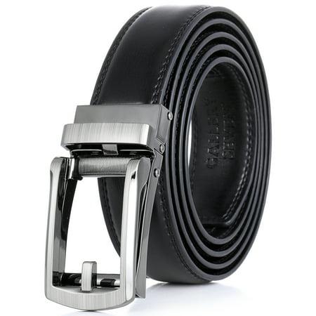 Gallery Seven Leather RatchetBelt For Men - Adjustable Click Belt (7 Leather Weight Belt)
