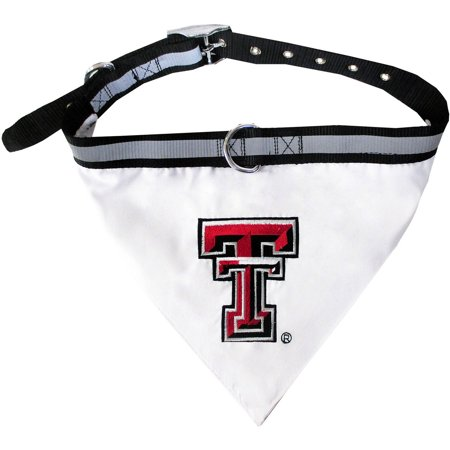 Pets First College Texas Tech Raiders Pet Bandana  3 Sizes Available  With Collar
