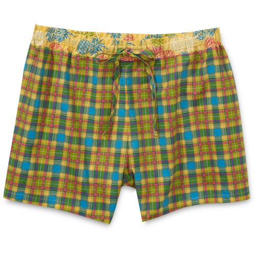 Women's Plaid Boxer Shorts