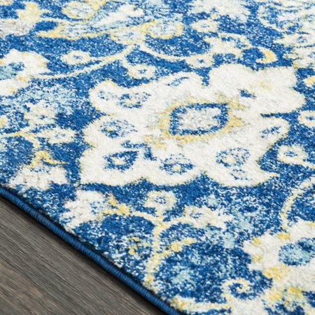 bungalow rose andover vintage floral dark blue area rug
