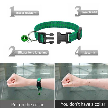 Anti Cat - Non-toxic Adjustable Pet Dog Anti Flea Ticks Prevention Collar Neck Ring Mosquitoes Elimination Anti Parasites Mosquito for Small/Large Dogs Cats Kitten Pet Green/Red/Purple