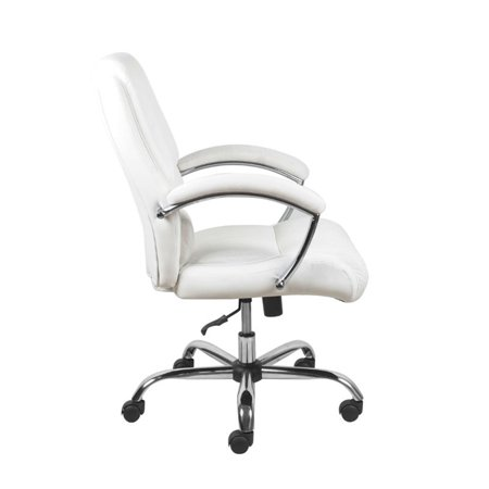Scranton & Co Ergonomic High Back Leather Office Chair in White - image 3 of 5