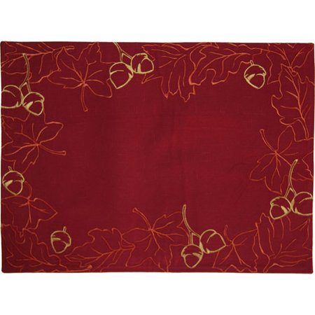 Better Homes And Gardens Leaf Wreath Placemat Red