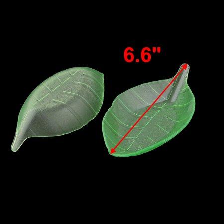 Home Plastic Leaf Shape Fruit Dessert Dish Snacks Plate Holder Tray Green 2pcs - image 2 of 3