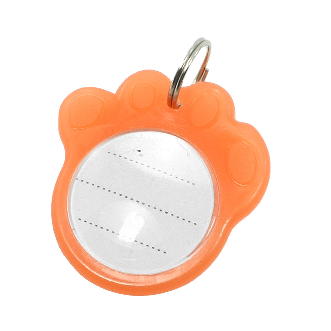 Metal Foot Pet Tag Cat Personalised Night Light Collar Badge Pendant Orange