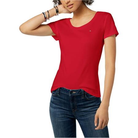 Tommy Hilfiger Womens Logo Basic T-Shirt