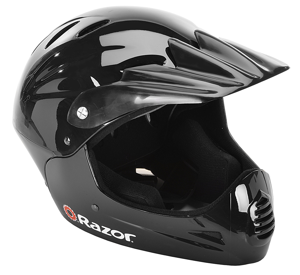Razor Youth, Full Face Multi-Sport Helmet, Glossy Black, For Ages 8-14