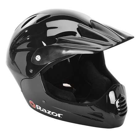 Razor Youth, Full Face Multi-Sport Helmet, Glossy Black, For Ages 8-14 - Mega Man Helmet