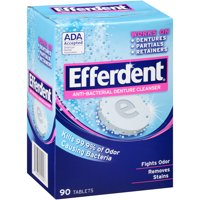 Efferdent Anti-Bacterial Denture Cleanser Tablets, 90 count