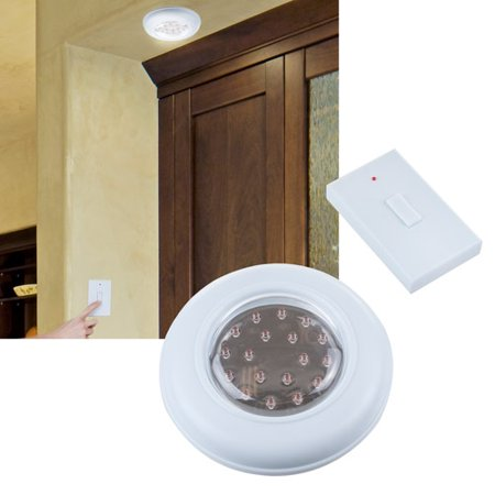 Cordless Ceiling/Wall Light with Remote Control Light Switch - Walmart.com