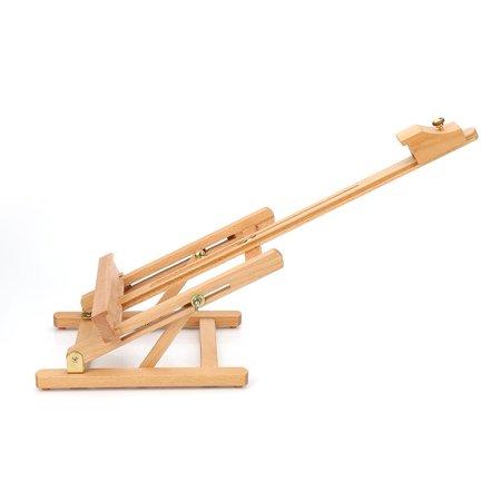 HURRISE Adjustable Height 106cm Tabletop Wood Studio H-Frame Easel Artist Painting Tool, Adjustable Easel, Wood Easel - image 5 of 12