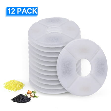 Cat Water Fountain Filters Replacement Filters for Flower Fountain Cat Water Fountain Water Dispenser 12PCS Dispenser Replacement Filter