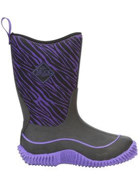 Muck Boot Kids' Hale Insulated Rain Boots (Purple Zebra, 7K)