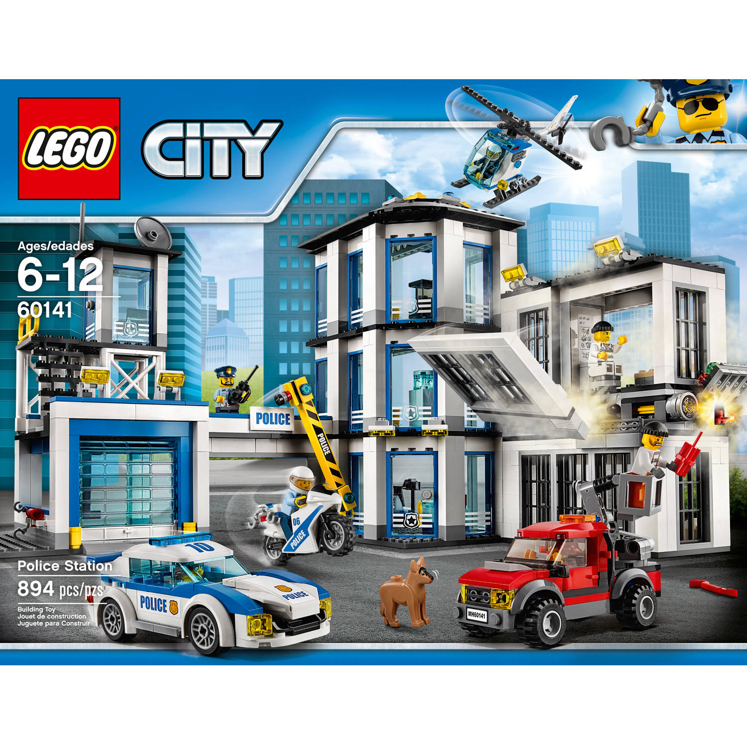 lego city police station 60141 ebay. Black Bedroom Furniture Sets. Home Design Ideas