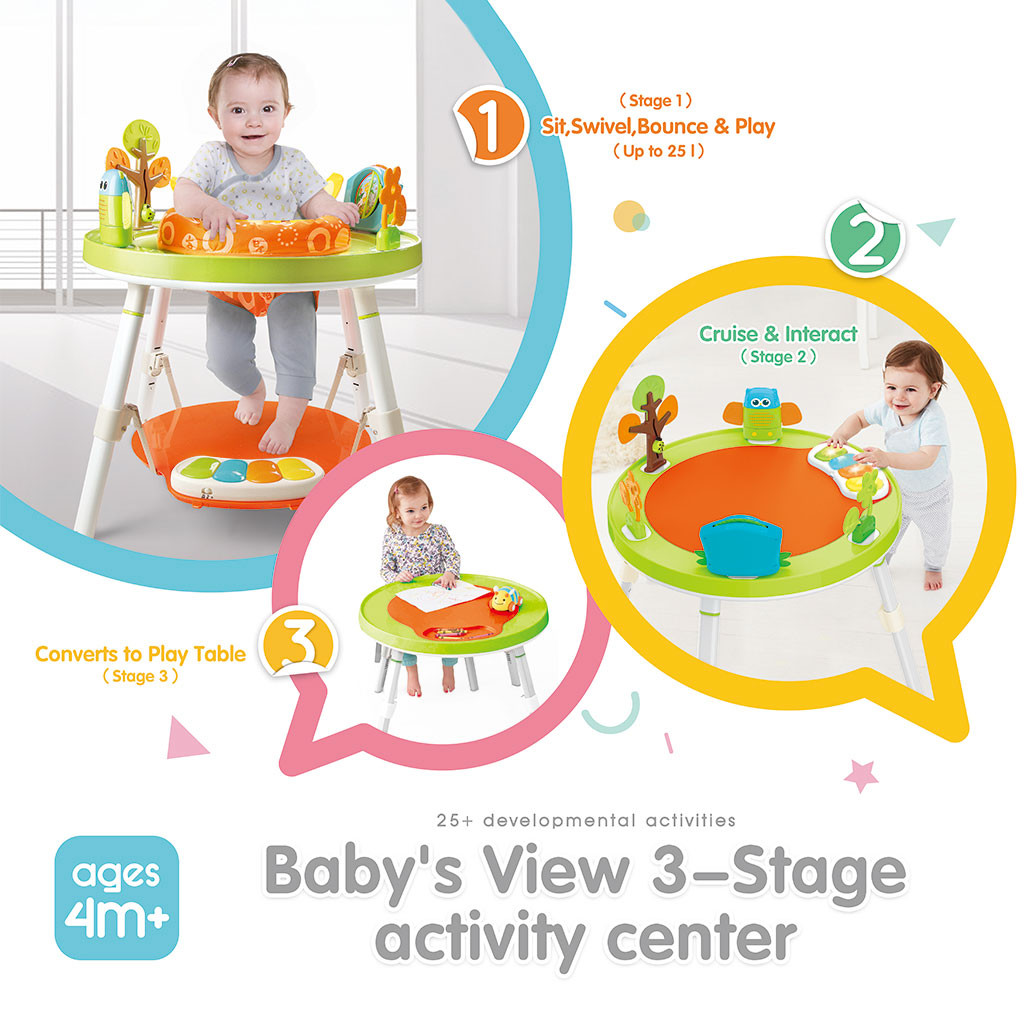 Joy Fitness Dining Chair Childrens Fun Activity Center Workbench Baby Jump Rocking Chair Bounce Baby Saucer Jump and Learn Jumper 2-in-1 Baby Seat Jumping Chair Happy Hanging Basket