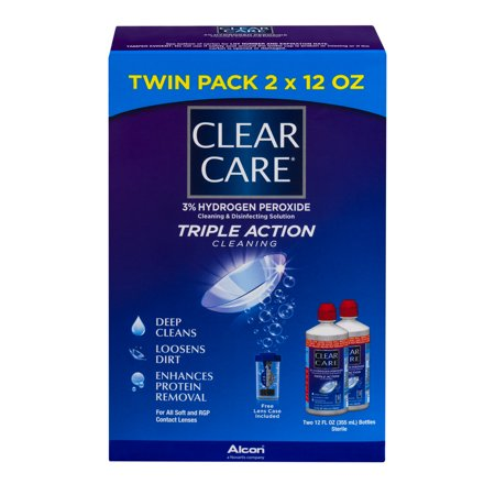 Clear Care Triple Action Cleaning Twin Pack  12 0 Fl Oz