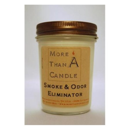More Than A Candle SOE8J 8 oz Jelly Jar Soy Candle, Smoke & Odor