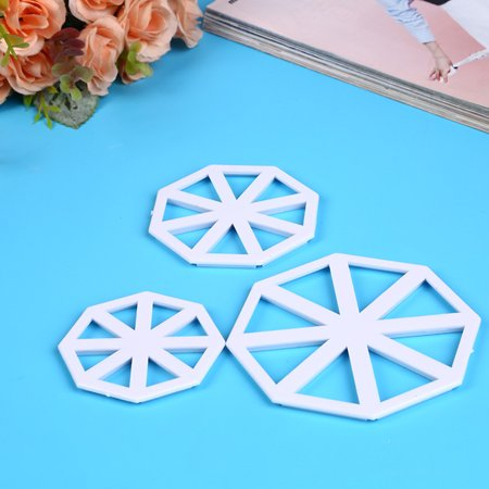 3pcs Plastic Geometric Pattern Cutting Dies Cookies Mold Cookie Moulds Set Cake Cutters Baking Tools - image 3 de 6