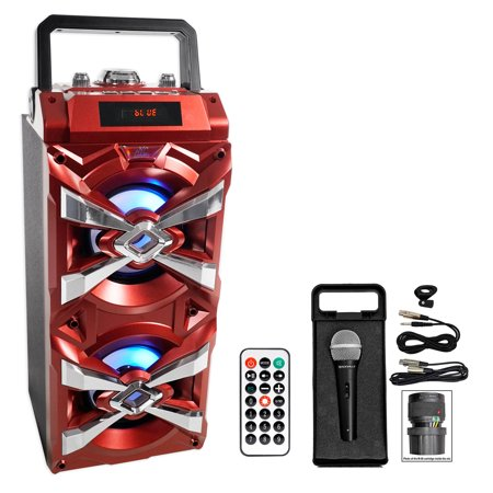 NYC Acoustics X-Tower Bluetooth Karaoke Machine System