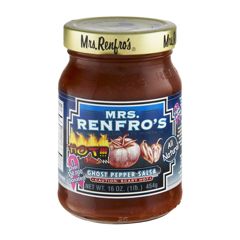 Mrs. Renfro's Gourmet Salsas Ghost Pepper Salsa Caution: Scary Hot, 16.0 OZ by Renfro Foods, Inc