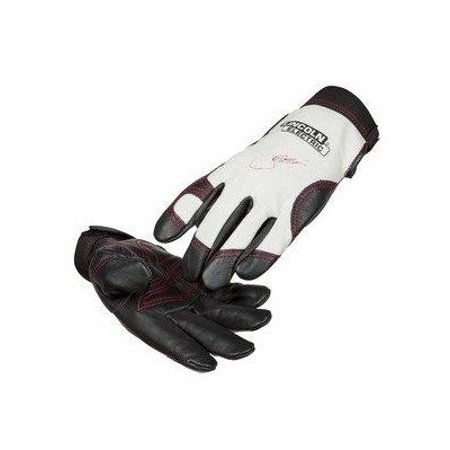Medium Leather Glove - Lincoln Electric Women's Full Grain Leather Work Gloves | Padded Palm | Women's Medium | K3231-M