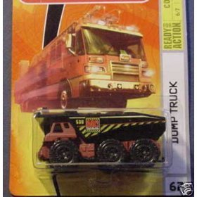 Mattel 2008 MBX Construction 1:64 Scale Die Cast Metal Car # 67 - Red Dump Tanker Truck with Black Dumpster, Diecast Metal and Plastic Parts By Matchbox