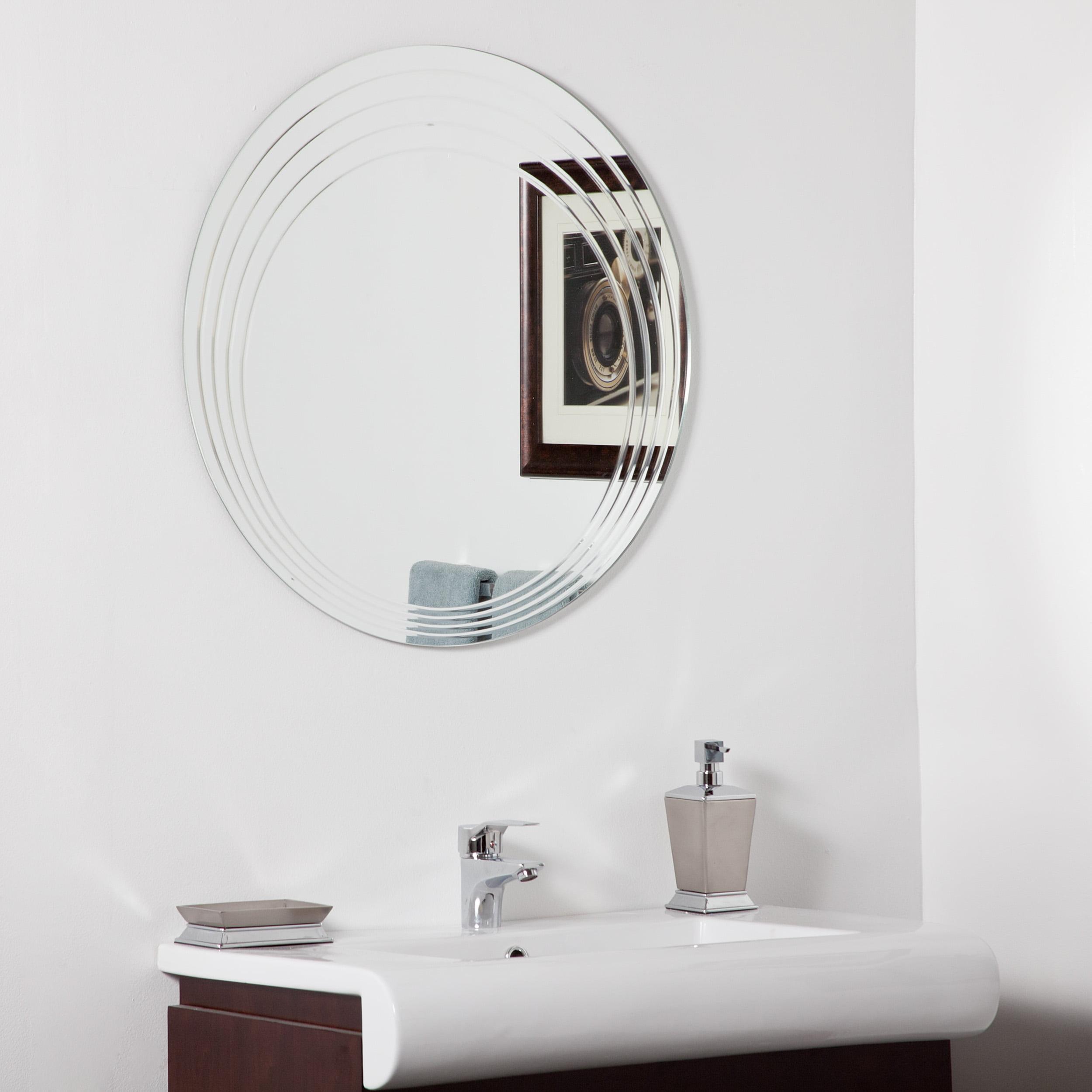 Décor Wonderland Bryn Modern bathroom mirror 27.6 inx27.6 in