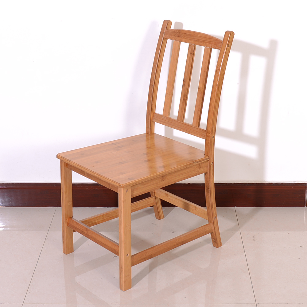 Dining Chair 2pcs Sturdy Bamboo Dining Chairs Wood Color Walmart Com Walmart Com