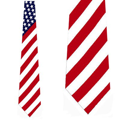 Giant US Flag Irregular Necktie Mens Tie by Tieguy