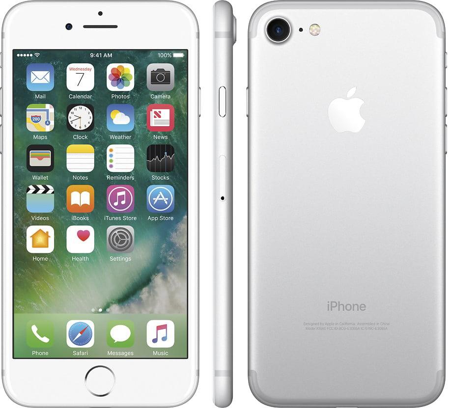 Refurbished Apple iPhone 7 32GB, Silver - Unlocked GSM