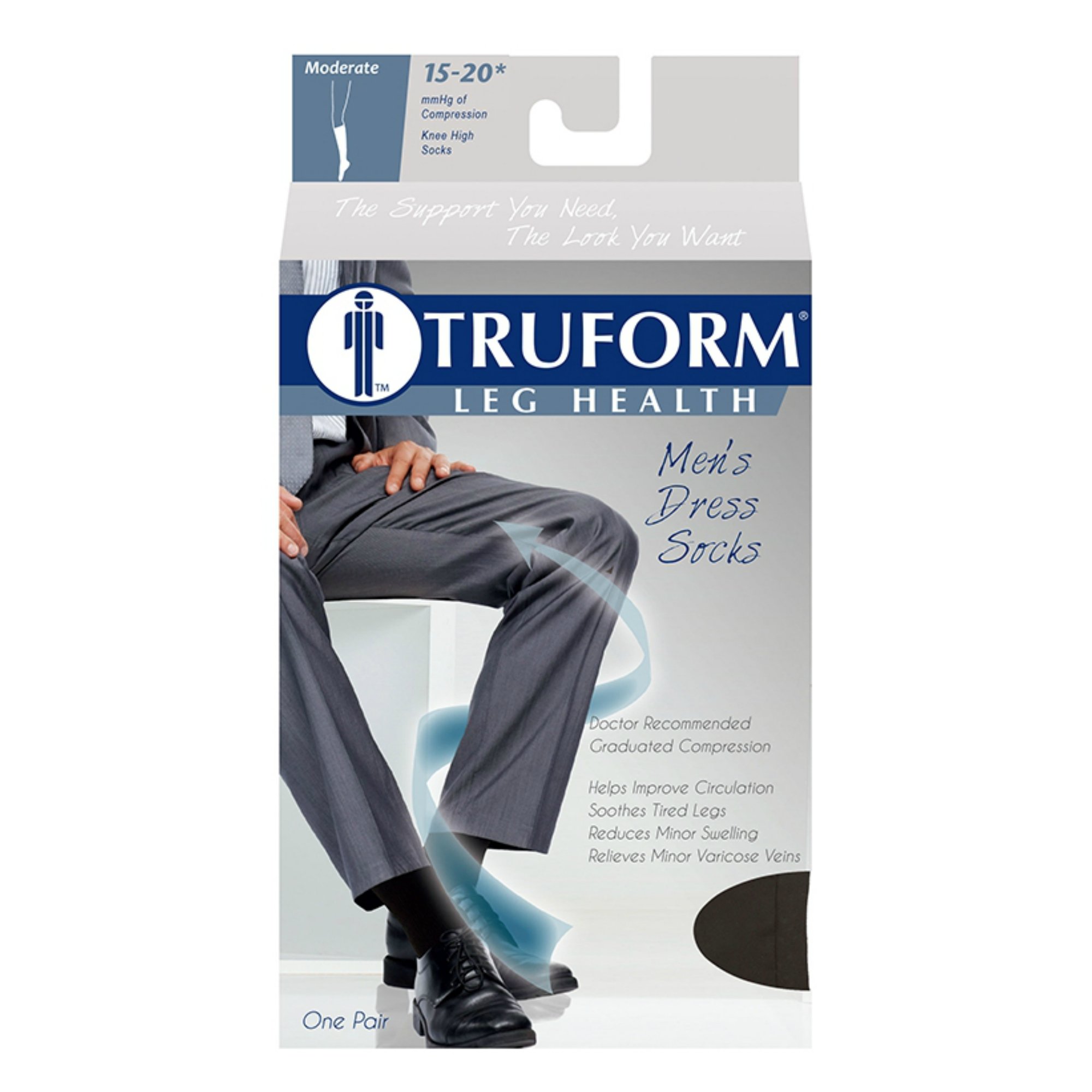 798360046 Truform Men s Compression Socks (15-20 mmHg)