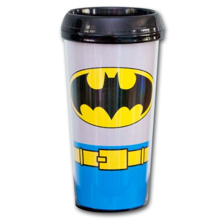 Batman Plastic Travel Mug 16 oz Coffee Classic Dark Knight Cup - Batman Cup