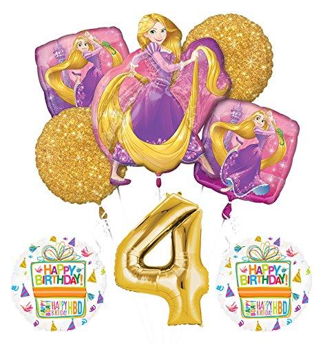 NEW! Tangled Rapunzel Disney Princess 4th BIRTHDAY PARTY Balloon