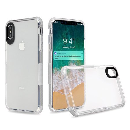 Apple iPhone Xs Max (6.5 Inch) - Phone Case Clear Shockproof Hybrid Armor Rubber Silicone Gel Cover Transparent White Bumper Phone Case for Apple iPhone Xs Max