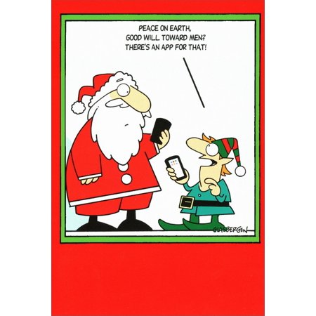 Humorous Christmas Cards.Nobleworks Appy Holidays Box Of 12 Funny Humorous Christmas Cards
